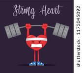 vector illustration of a strong ... | Shutterstock .eps vector #1172045092
