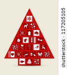 abstract christmas tree made of ...   Shutterstock .eps vector #117205105