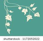 ivy vine silhouette vector ... | Shutterstock .eps vector #1172052022