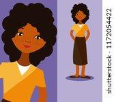 young woman cartoon | Shutterstock .eps vector #1172054422