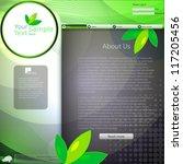 green website template | Shutterstock .eps vector #117205456