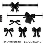 black ribbon with tag element... | Shutterstock .eps vector #1172056342