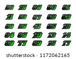 set of racing number  start...   Shutterstock .eps vector #1172062165