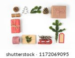 set of various christmas... | Shutterstock . vector #1172069095