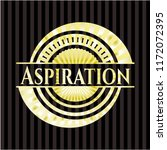 aspiration shiny emblem | Shutterstock .eps vector #1172072395