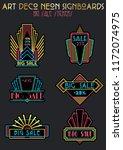 the roaring twenties art deco... | Shutterstock .eps vector #1172074975