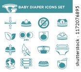 baby diaper package information ... | Shutterstock .eps vector #1172076895
