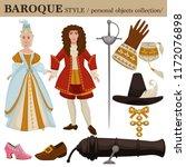 baroque or 17 century european... | Shutterstock .eps vector #1172076898