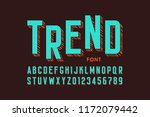 modern font design  alphabet... | Shutterstock .eps vector #1172079442