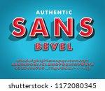 modern sans serif font with 3d... | Shutterstock .eps vector #1172080345