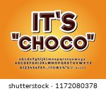 chocolate product logo typeface ... | Shutterstock .eps vector #1172080378