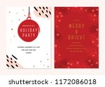 vector christmas cards set.... | Shutterstock .eps vector #1172086018