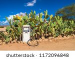 old gas pump in the namib... | Shutterstock . vector #1172096848