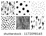 collection of seamless pattern. ... | Shutterstock .eps vector #1172098165
