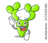 chef cartoon opuntia cactus in... | Shutterstock .eps vector #1172102182