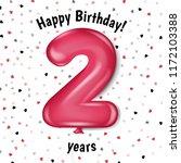 happy birthday card    Shutterstock . vector #1172103388