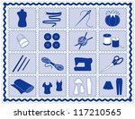 sewing tools  fashion model ... | Shutterstock .eps vector #117210565