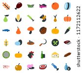 colored vector icon set   spike ... | Shutterstock .eps vector #1172112622