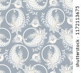 paisley seamless pattern.... | Shutterstock .eps vector #1172113675