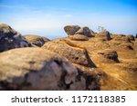 beautiful sunset at mountain...   Shutterstock . vector #1172118385