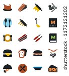 color and black flat icon set   ... | Shutterstock .eps vector #1172121202