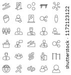 thin line vector icon set  ... | Shutterstock .eps vector #1172123122