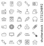 thin line vector icon set  ... | Shutterstock .eps vector #1172124892