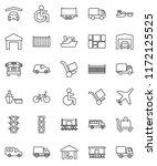 thin line vector icon set  ... | Shutterstock .eps vector #1172125525