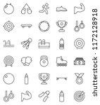 thin line vector icon set  ... | Shutterstock .eps vector #1172128918