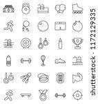 thin line vector icon set  ... | Shutterstock .eps vector #1172129335