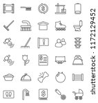 thin line vector icon set  ... | Shutterstock .eps vector #1172129452