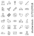 thin line vector icon set  ... | Shutterstock .eps vector #1172129518
