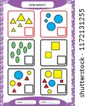 how many counting game for... | Shutterstock .eps vector #1172131255