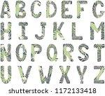 english alphabet. capital... | Shutterstock .eps vector #1172133418