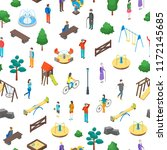 kid playground elements 3d... | Shutterstock .eps vector #1172145685