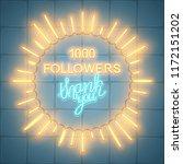 1000 followers  social media... | Shutterstock .eps vector #1172151202