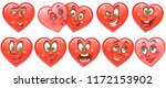 heart collection. emoticons.... | Shutterstock .eps vector #1172153902