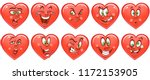 heart collection. emoticons.... | Shutterstock .eps vector #1172153905