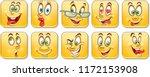 cartoon faces collection.... | Shutterstock .eps vector #1172153908