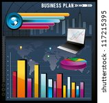 business graphics vector... | Shutterstock .eps vector #117215395