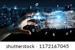businesswoman on blurred... | Shutterstock . vector #1172167045