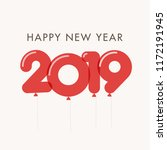 happy new year 2019 card ... | Shutterstock .eps vector #1172191945
