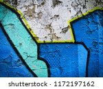 canvas with hand drawn abstract ... | Shutterstock . vector #1172197162