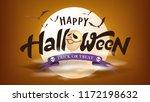 happy halloween banner template ... | Shutterstock .eps vector #1172198632