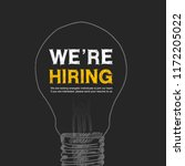 we are hiring design with hand... | Shutterstock .eps vector #1172205022