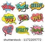 set of speech bubbles in retro... | Shutterstock .eps vector #1172205772