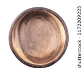 old handmade carved wooden bowl ...   Shutterstock . vector #1172209225