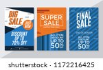big sale  super sale and final... | Shutterstock .eps vector #1172216425
