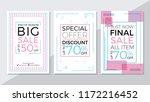 end of season sale  special... | Shutterstock .eps vector #1172216452