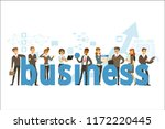 group of smiling office people... | Shutterstock .eps vector #1172220445